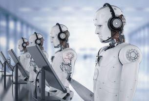 Robots at computer